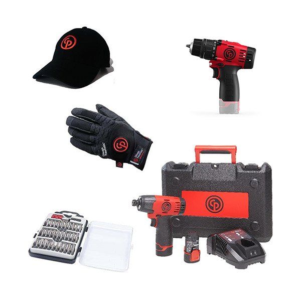 Chicago Pneumatic Набор аккумуляторного инструмента CP cordless PROMO pack 4