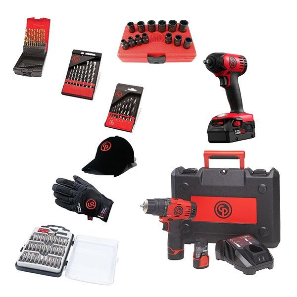 Chicago Pneumatic Набор аккумуляторного инструмента CP cordless PROMO pack 7