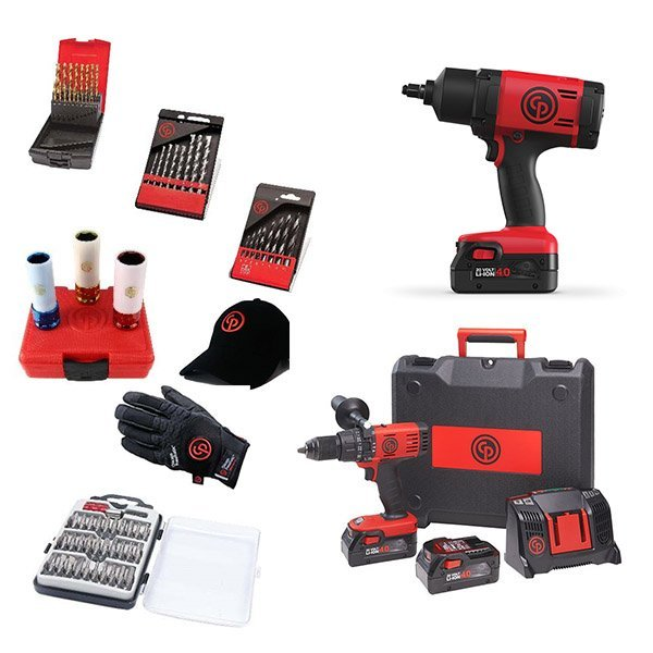 Chicago Pneumatic Набор аккумуляторного инструмента CP cordless PROMO pack 8